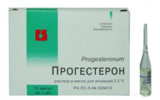Прогестерон — уколы для вызова месячных и инструкция по их применению